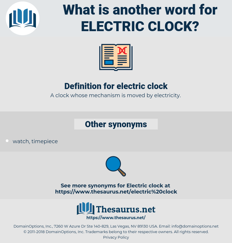 electric clock, synonym electric clock, another word for electric clock, words like electric clock, thesaurus electric clock
