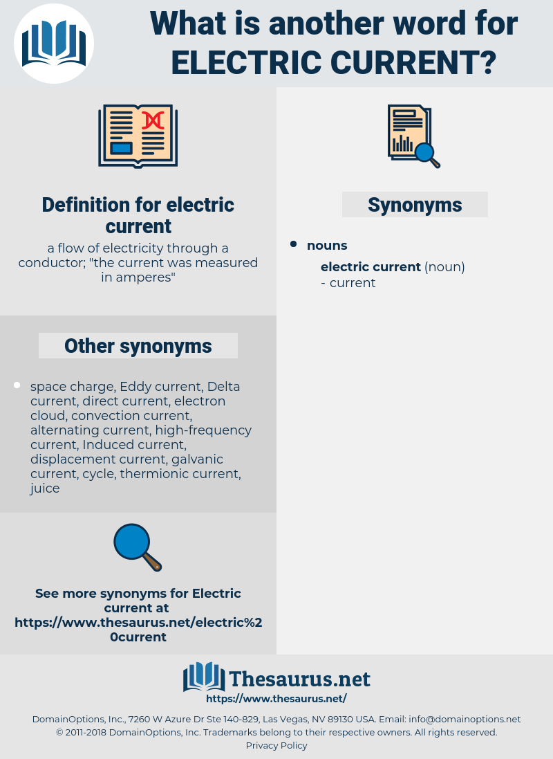 electric current, synonym electric current, another word for electric current, words like electric current, thesaurus electric current