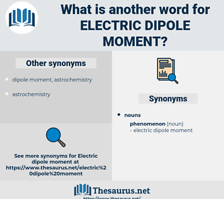 electric dipole moment, synonym electric dipole moment, another word for electric dipole moment, words like electric dipole moment, thesaurus electric dipole moment