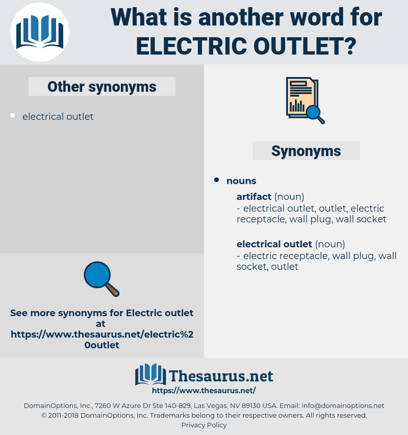 electric outlet, synonym electric outlet, another word for electric outlet, words like electric outlet, thesaurus electric outlet