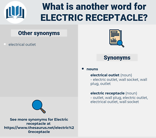 electric receptacle, synonym electric receptacle, another word for electric receptacle, words like electric receptacle, thesaurus electric receptacle