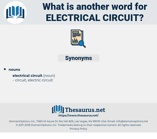 electrical circuit, synonym electrical circuit, another word for electrical circuit, words like electrical circuit, thesaurus electrical circuit