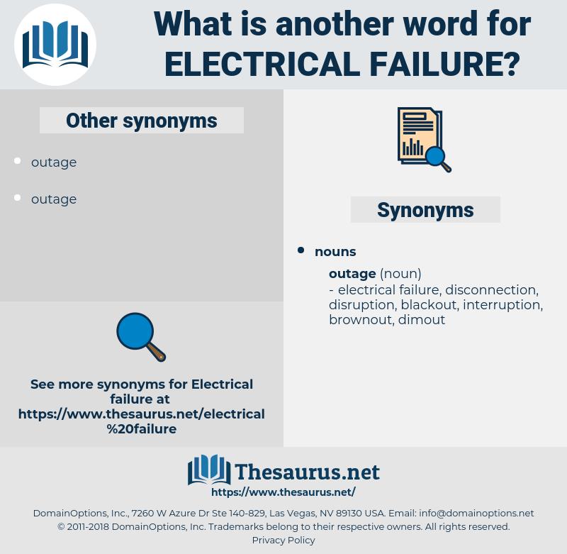electrical failure, synonym electrical failure, another word for electrical failure, words like electrical failure, thesaurus electrical failure