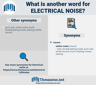 electrical noise, synonym electrical noise, another word for electrical noise, words like electrical noise, thesaurus electrical noise