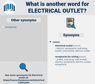 electrical outlet, synonym electrical outlet, another word for electrical outlet, words like electrical outlet, thesaurus electrical outlet