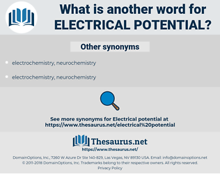 electrical potential, synonym electrical potential, another word for electrical potential, words like electrical potential, thesaurus electrical potential