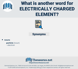 electrically charged element, synonym electrically charged element, another word for electrically charged element, words like electrically charged element, thesaurus electrically charged element