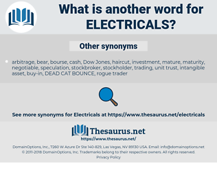 electricals, synonym electricals, another word for electricals, words like electricals, thesaurus electricals