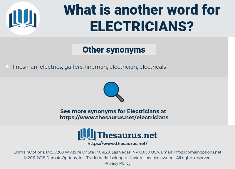 electricians, synonym electricians, another word for electricians, words like electricians, thesaurus electricians