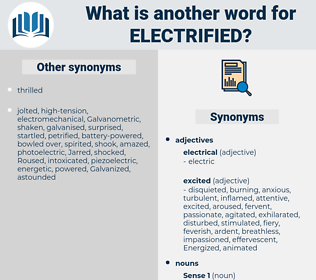 electrified, synonym electrified, another word for electrified, words like electrified, thesaurus electrified
