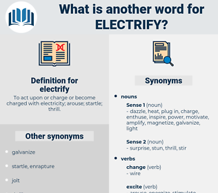 electrify, synonym electrify, another word for electrify, words like electrify, thesaurus electrify