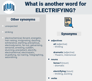 electrifying, synonym electrifying, another word for electrifying, words like electrifying, thesaurus electrifying