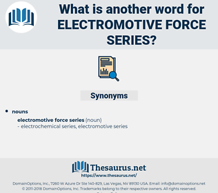 electromotive force series, synonym electromotive force series, another word for electromotive force series, words like electromotive force series, thesaurus electromotive force series