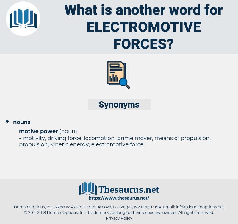 electromotive forces, synonym electromotive forces, another word for electromotive forces, words like electromotive forces, thesaurus electromotive forces