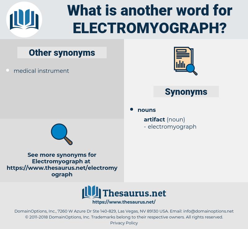 electromyograph, synonym electromyograph, another word for electromyograph, words like electromyograph, thesaurus electromyograph