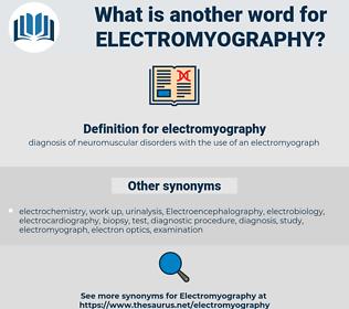 electromyography, synonym electromyography, another word for electromyography, words like electromyography, thesaurus electromyography