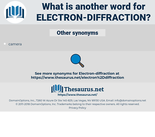 electron-diffraction, synonym electron-diffraction, another word for electron-diffraction, words like electron-diffraction, thesaurus electron-diffraction