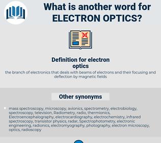 electron optics, synonym electron optics, another word for electron optics, words like electron optics, thesaurus electron optics
