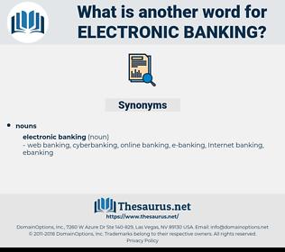 electronic banking, synonym electronic banking, another word for electronic banking, words like electronic banking, thesaurus electronic banking