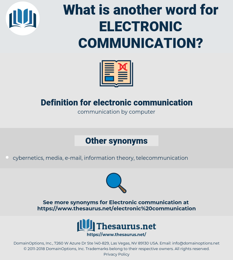 what is the definition of electronic communication