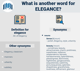 elegance, synonym elegance, another word for elegance, words like elegance, thesaurus elegance