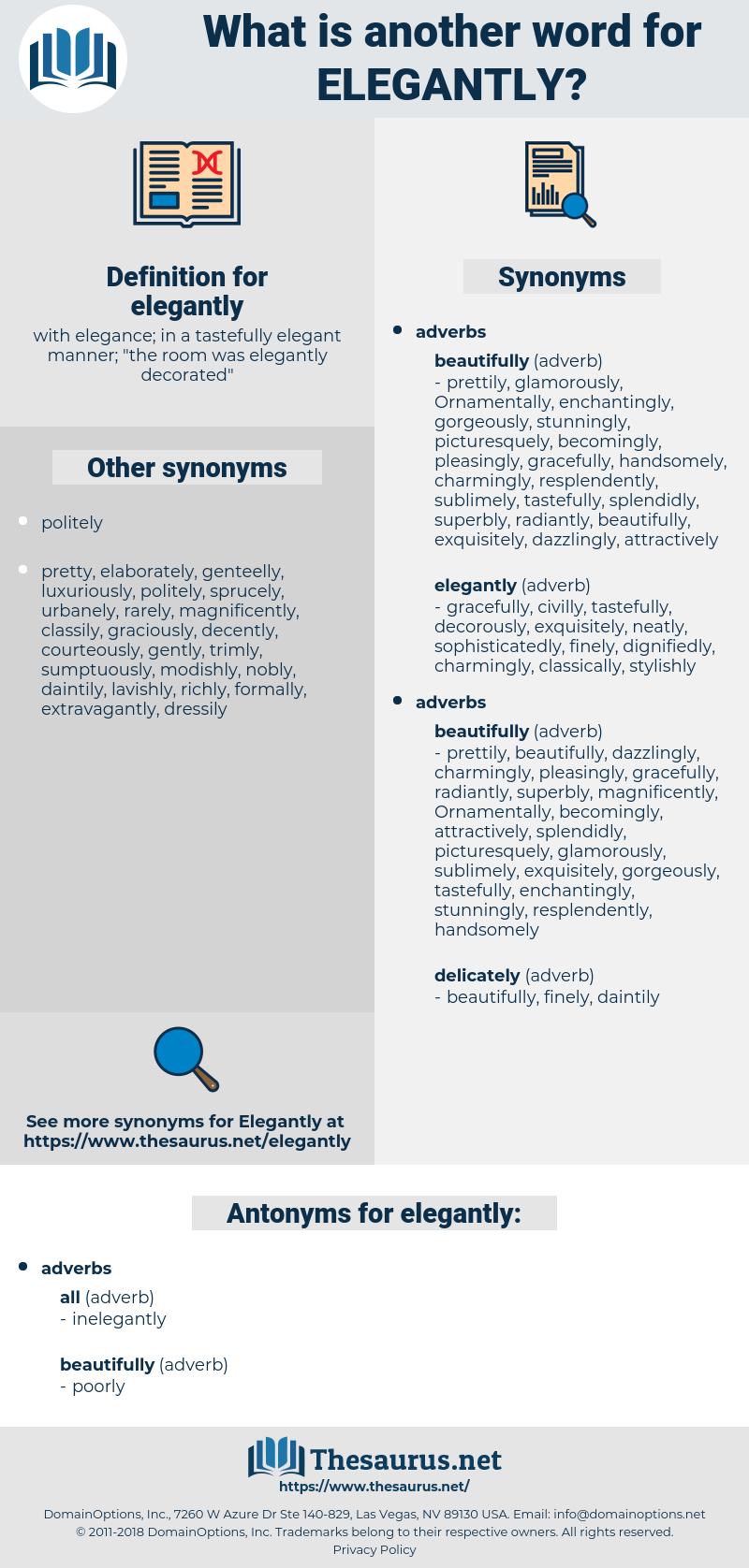 elegantly, synonym elegantly, another word for elegantly, words like elegantly, thesaurus elegantly