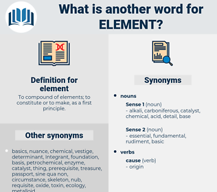 element, synonym element, another word for element, words like element, thesaurus element