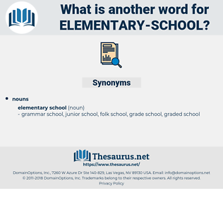 elementary school, synonym elementary school, another word for elementary school, words like elementary school, thesaurus elementary school