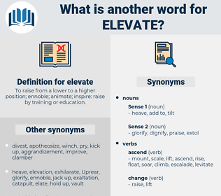 elevate, synonym elevate, another word for elevate, words like elevate, thesaurus elevate