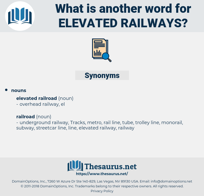 elevated railways, synonym elevated railways, another word for elevated railways, words like elevated railways, thesaurus elevated railways
