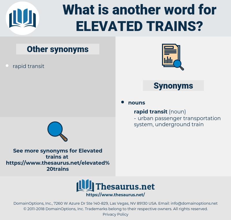 elevated trains, synonym elevated trains, another word for elevated trains, words like elevated trains, thesaurus elevated trains