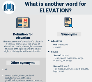 elevation, synonym elevation, another word for elevation, words like elevation, thesaurus elevation