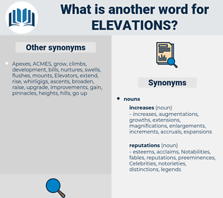 elevations, synonym elevations, another word for elevations, words like elevations, thesaurus elevations