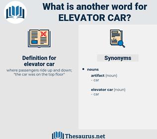 elevator car, synonym elevator car, another word for elevator car, words like elevator car, thesaurus elevator car