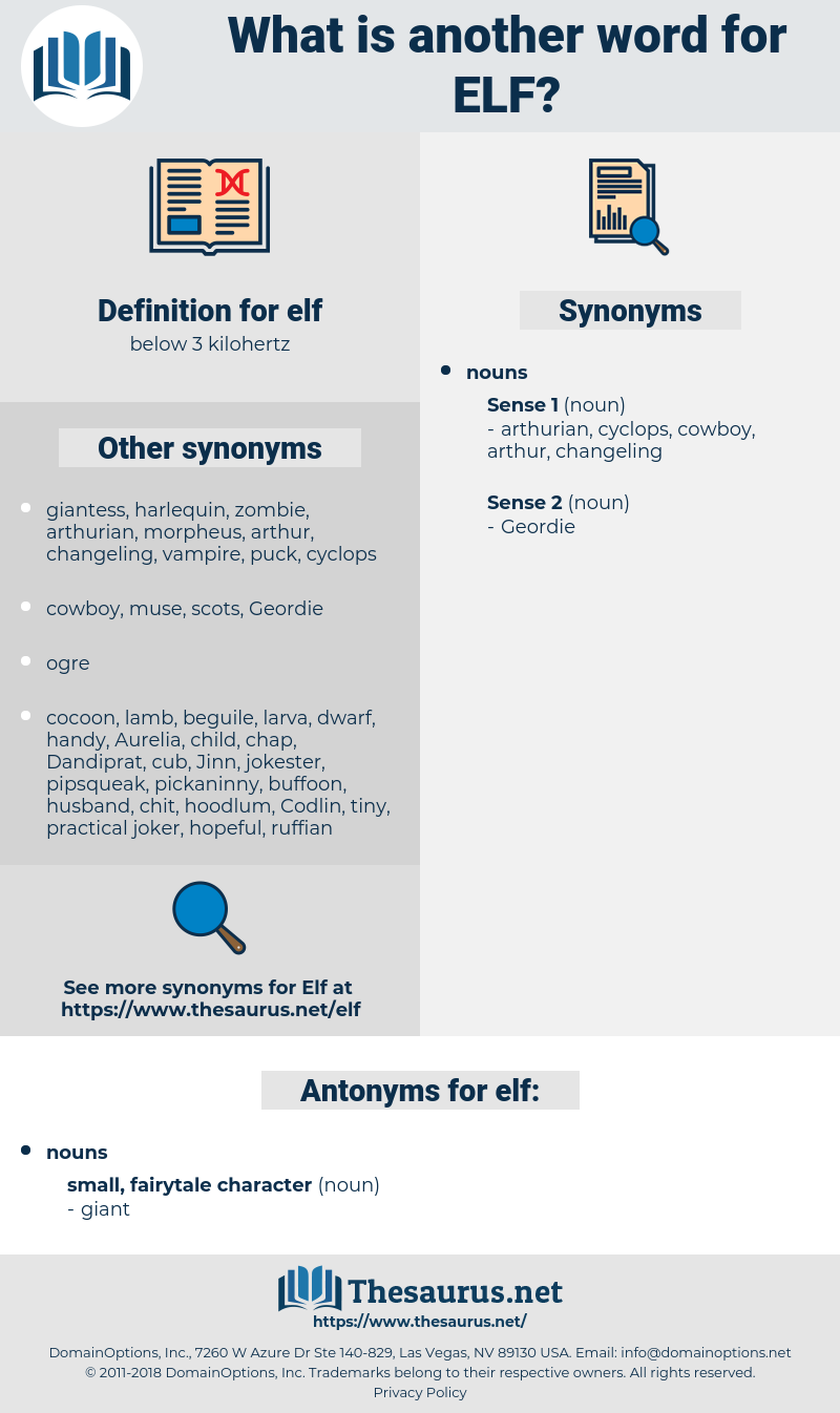 elf, synonym elf, another word for elf, words like elf, thesaurus elf
