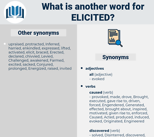 elicited, synonym elicited, another word for elicited, words like elicited, thesaurus elicited