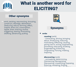 Eliciting, synonym Eliciting, another word for Eliciting, words like Eliciting, thesaurus Eliciting