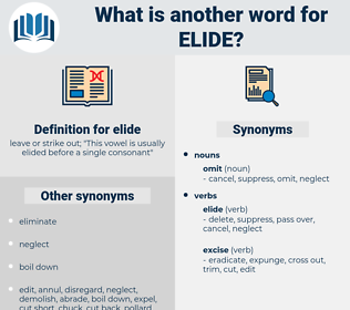 elide, synonym elide, another word for elide, words like elide, thesaurus elide