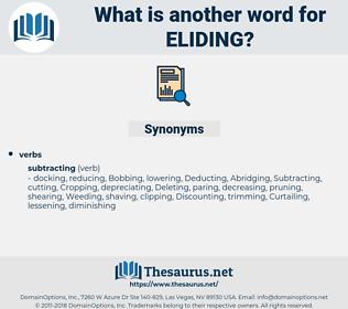 Eliding, synonym Eliding, another word for Eliding, words like Eliding, thesaurus Eliding