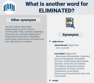 Eliminated, synonym Eliminated, another word for Eliminated, words like Eliminated, thesaurus Eliminated