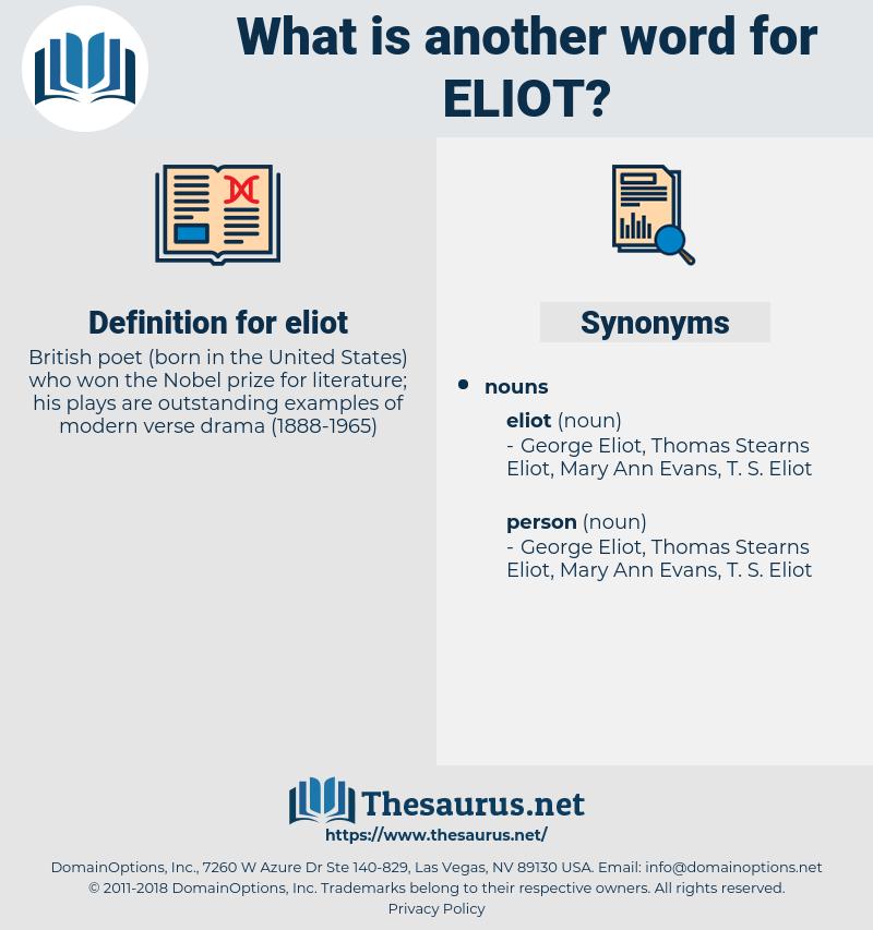eliot, synonym eliot, another word for eliot, words like eliot, thesaurus eliot