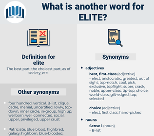 elite, synonym elite, another word for elite, words like elite, thesaurus elite