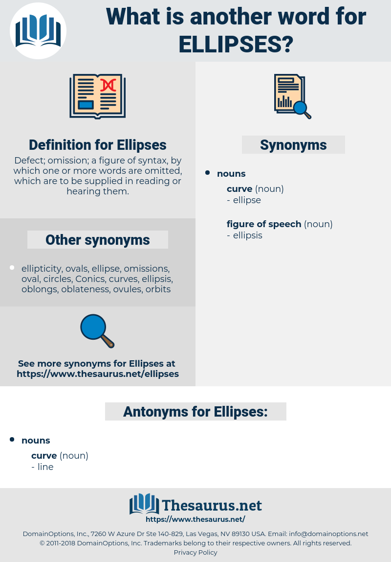 Ellipses, synonym Ellipses, another word for Ellipses, words like Ellipses, thesaurus Ellipses