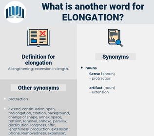 elongation, synonym elongation, another word for elongation, words like elongation, thesaurus elongation