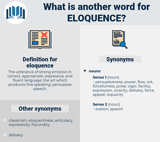 eloquence, synonym eloquence, another word for eloquence, words like eloquence, thesaurus eloquence