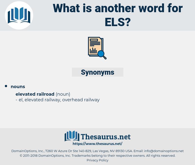 Els, synonym Els, another word for Els, words like Els, thesaurus Els