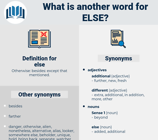 else, synonym else, another word for else, words like else, thesaurus else