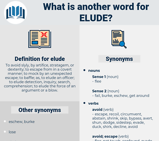 elude, synonym elude, another word for elude, words like elude, thesaurus elude