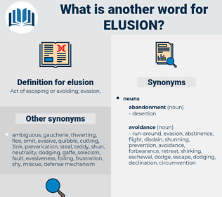 elusion, synonym elusion, another word for elusion, words like elusion, thesaurus elusion