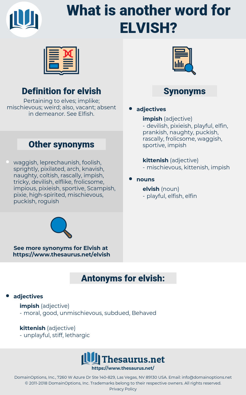 elvish, synonym elvish, another word for elvish, words like elvish, thesaurus elvish